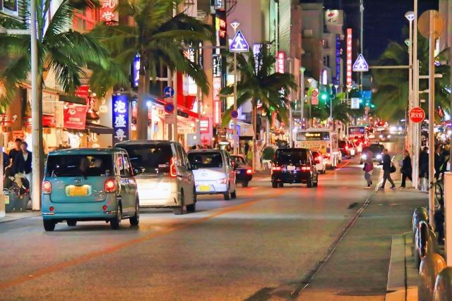 沖縄、国際通り