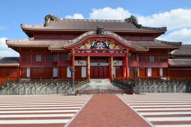 沖縄、首里城の写真