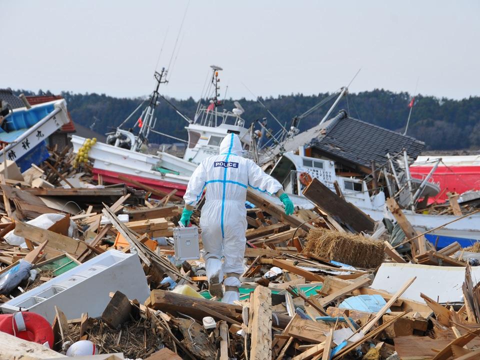 2011年4月ようやく福島県警が現地に入る