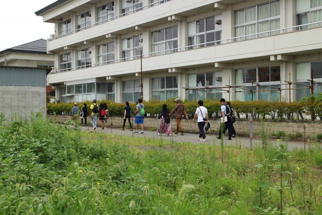 解体予定の浪江小学校