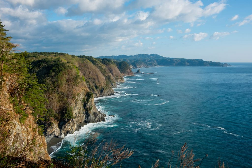 三陸のリアス海岸の絶景